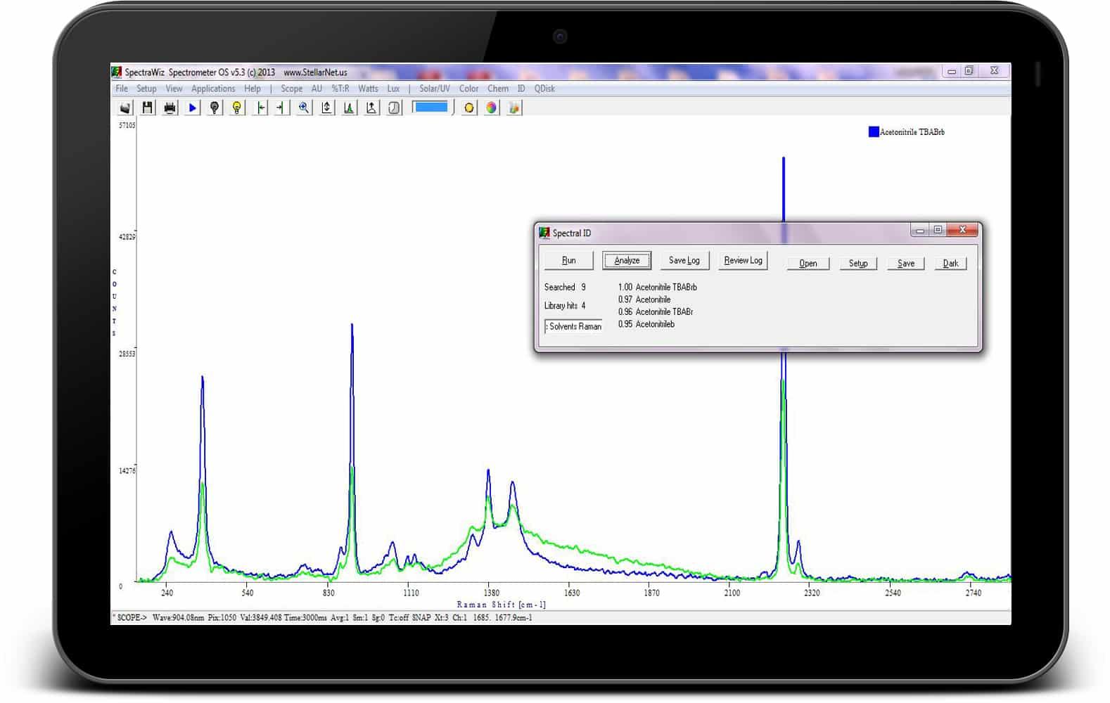 Spectrum Tampa Fl >> Raman ID Software & Libraries - StellarNet, Inc.