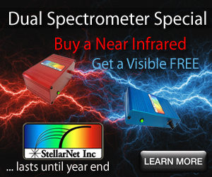 2018 Year End Dual Spectrometer Special – Buy a NIR get a VIS FREE!