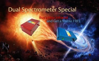 Fall Dual Spectrometer Special- Buy a NIR get a VIS FREE!