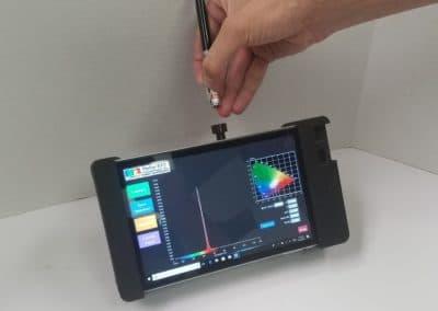 Handheld Spectroradiometer - Red laser pen