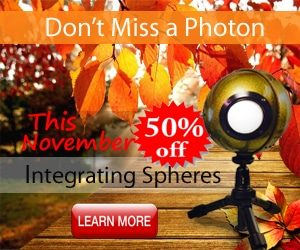 November Sale on Integrating Spheres for Light Measurement