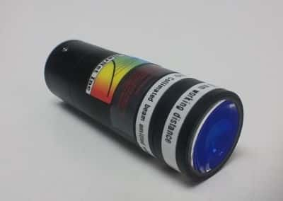 Raman probe telescoping lens