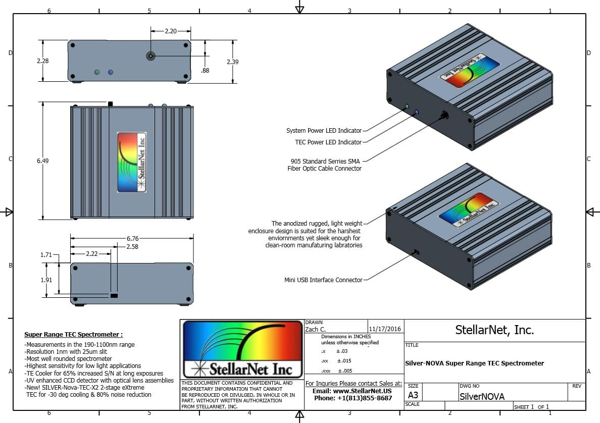 SILVER-Nova Super Range TE Cooled Spectrometers | StellarNet.us on neon kitchen, neon glass, neon walls, neon transformers, neon pumps,