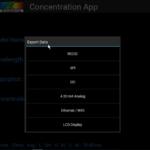 SpectraWiz Mobile Export Data Options