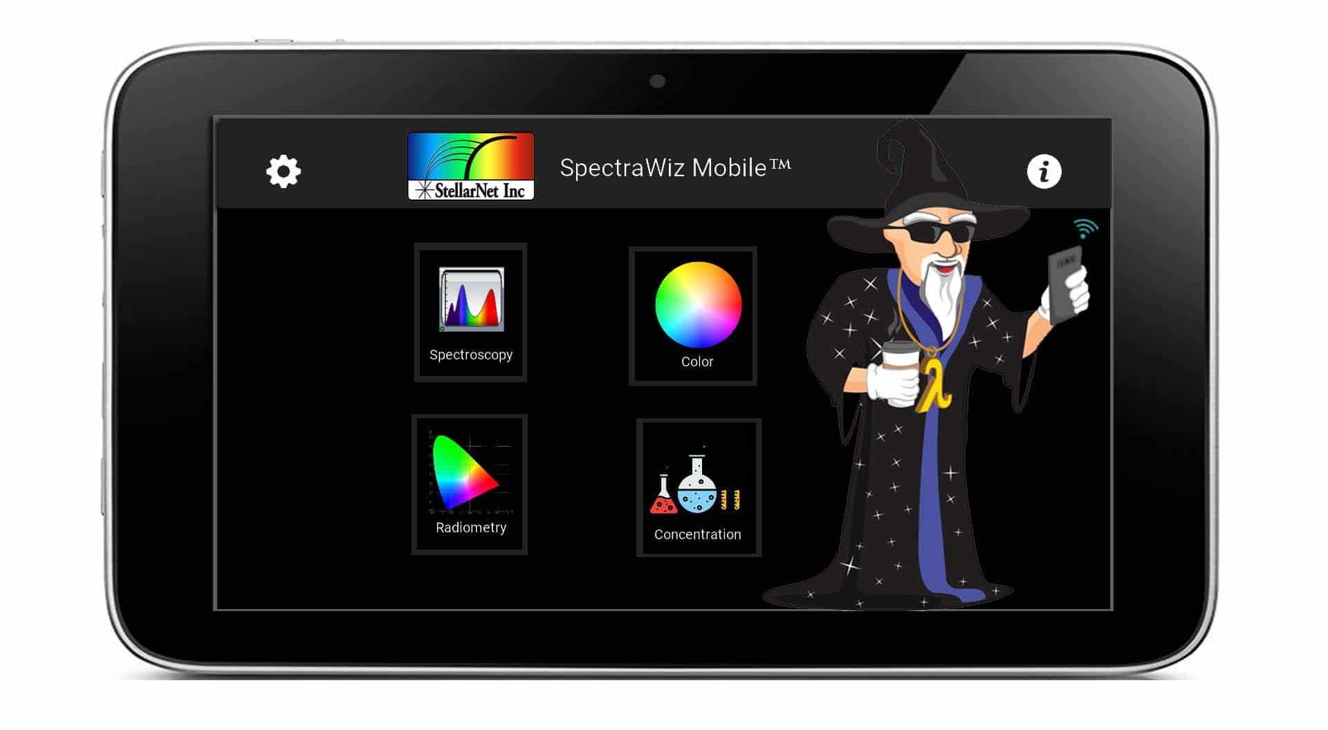 Spectroscopy Mobile with Wizard-no mirror
