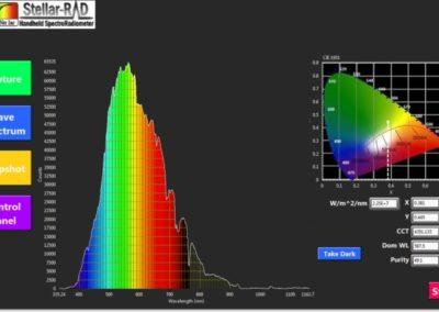 StellarRAD handheld spectroradiometer software